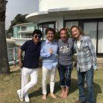 北原さんの佐島邸宅へお邪魔しました。チャーさんご夫婦、山崎拓巳さんもご一緒です。